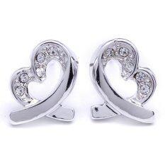 ขาย W Jewelry ต่างหูแฟชั่นประดับคริสตัล Austria รุ่น E0077 สีเงินกึ่งทองคำขาว ออนไลน์ ไทย