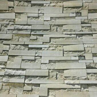 วอลเปเปอร์ แบบมีกาวในตัว \ลายอิฐหินทราย 3D \ หน้ากว้าง 122 cm. x 2 เมตร