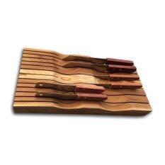 ราคา Wanakan Teak Knife Holder ที่เสียบมีด ไม้สักทอง เป็นต้นฉบับ Wanakan
