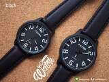 ราคา Feifan นาฬิกาคู่ รุ่น Stencil สายหนัง Pu สีเบจ Pure Black แพคเกจ 2 เรือน Feifan