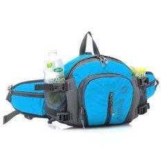 ขาย Waterproof Waist Pack Sports Waist Bag Backpack Running Hiking Cycling Travel Blue ออนไลน์ Thailand