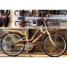 โปรโมชั่น Wci จักรยานแม่บ้าน รุ่น Special เกียร์ 6 สปีด ย้อนยุค สีคลีม ใน Thailand