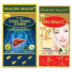 ขาย Wealthy Health Bio Maxi C 1000Mg Vitamin C Milk Thistle Liver Tonic 33000