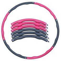 โปรโมชั่น Weighthoop ฮูล่าฮูป Weighthoop โฟมแบบถอดประกอบได้ ขนาด 1 8 Kg สีชมพู เทา Weighthoop ใหม่ล่าสุด