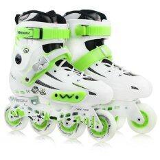 ขาย Weiqiu รองเท้าสเก็ต โรลเลอร์เบลด Professional Fix สีขาว เขียว ถูก