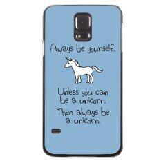 ราคา White Unicorn Painting Phone Case For Samsung Galaxy S5 Black ออนไลน์