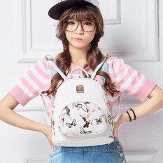 ราคา Wichu Bag กระเป๋าสะพายหลัง ผู้หญิง กระเป๋าแฟชั่น กระเป๋าเป้เกาหลี รุ่น Lp 026 สีขาวลายดอกไม้ Wichu Bag กรุงเทพมหานคร