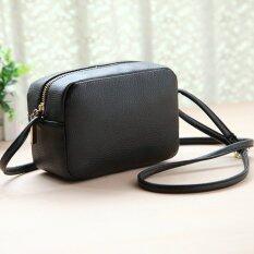 ขาย Wichu Bag กระเป๋าสะพายข้าง ผู้หญิง กระเป๋าแฟชั่น รุ่น Lb 015 สีดำ Wichu Bag ใน กรุงเทพมหานคร