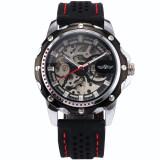 ราคา Winner220 นาฬิกาข้อมือผู้ชาย ระบบกลไกแบบออโตเมติก โชว์กลไก สไตส์คลาสสิก สายยางซิลิโคน หน้าปัดสีดำ ใหม่ ถูก