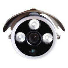 wintech กล้องวงจรปิด 1200 TVL 3.6 mm 3 Array อินฟาเรด 30 m - สีขาว