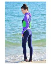 ขาย ซื้อ With Hood Conjoined Long Sleeved Pants Sun Protective Clothing Garment Of Jellyfish Long Sleeved Wetsuit Purple จีน
