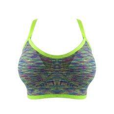 Wolfox Sport Bra Fashion สปอร์ตบราออกกำลังกาย สีเขียวC เป็นต้นฉบับ