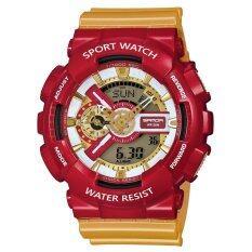 Wonderful Story  S Sport นาฬิกาข้อมือ ใส่ได้ทั้งชายและหญิง กันน้ำได้-Sp024 (red/gold).
