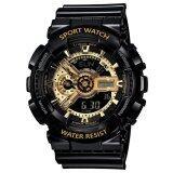 ขาย Wonderful Watch S Sport นาฬิกาข้อมือ ใส่ได้ทั้งชายและหญิง กันน้ำได้ Po Sw 110 1 Black Gold ราคาถูกที่สุด