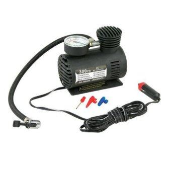 WorkWORK : MINI ELECTRIC CAR TYRE PUMP ที่สูบลม/ปั้มเติมลมไฟฟ้า สำหรับล้อรถยนต์300 PSI 12V (black) รุ่น CPUMP-300