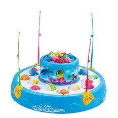 ราคา Worktoys เกมส์ตกปลา 2 ชั้น Fishing Games สีฟ้า เป็นต้นฉบับ Worktoys