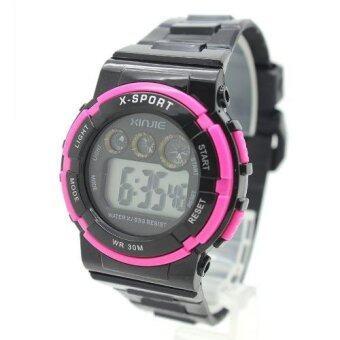 X Sport Watch นาฬิกาข้อมือผู้หญิงและเด็ก สายยาง ระบบ Digital XS-B01