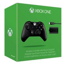 XBOX One Wireless Controller with Play & Charge Kit ( Black )