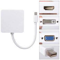 ส่วนลด สินค้า Xcsource 3In1 Mini Dp Thunderbolt To Hdmi Dvi Vga อะแดปเตอร์สำหรับ Macbook Air Pro