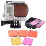ราคา Xcsource 5Pcs ชุดเลนส์ฟิลเตอร์ Diving Filter Kits Red Purple Yellow Lens Adapter สำหรับ Gopro Hero 4 3 ออนไลน์ กรุงเทพมหานคร