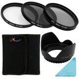 ซื้อ Xcsource ชุดเลนส์ฟิลเตอร์ Uv Cpl Nd4 Filter Lens Hood 52Mm สำหรับกล้อง Nikon D7100 D7000 D5200 D5100 D5000 Xcsource ถูก