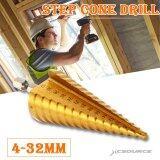 ขาย Xcsource ดอกสว่าน ดอกเจดีย์ Large Hss Steel Step Cone Drill Countersink Titanium Bit Set Hole 4 32Mm ถูก