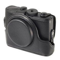 ราคา Xcsource เคสหนัง สำหรับ Digital Camera Sony Rx100 With Strap สีดำ ใน Thailand