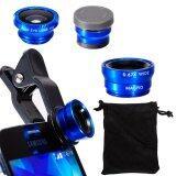 ขาย Xcsource เลนส์ติดโทรศัพท์ 4 In1 Fisheye Wide Angle Macro 6X Hd Super Macro Lens สำหรับ Iphone 6 6 Plus สีน้ำเงิน Thailand ถูก