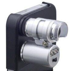 Xcsource กล้องจุลทรรศ์ 60X Zoom Magnify Microscope Micro Lens สำหรับ Apple Iphone 4 4G 4S Uv Led เป็นต้นฉบับ