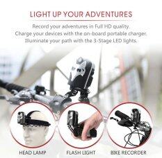 Xcsource กล้องติดจักรยาน 1080P Bike  Video Recorder 5MP  + 6000K Dual LED Headlamp