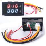 Xcsource โวลต์มิเตอร์ แอมมิเตอร์ Dc 100V Voltmeter Ammeter 10A Red Blue Led Panel Amp Digital Volt Gauge กรุงเทพมหานคร