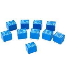 ราคา Xcsource รีเรย์ 10 ชิ้น Songle 5V Mini Electromagnetic Power Relay Spdt 10A Pcb Mount 5 Pins Household Appliances Control ราคาถูกที่สุด