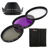 Xcsource Uv Cpl Fld Filter Lens Hood 58Mm For Canon Eos 1100D 1000D 500D 450D 50D เป็นต้นฉบับ