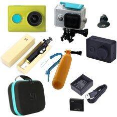 Xiaomi Yi Action Camera full accessories (Green)