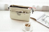 ราคา Yhl กระเป๋าจัดระเบียบ จัดเก็บอุปกรณ์ ผ้าแคนวาส เกรด พรีเมียม Premium Canvas Bag In Bag สีครีม ที่สุด