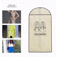 ขาย Yhl ถุงคลุมเสื้อผ้า กางเกง เสื้อสูท ชุดสูท เดรส ชุดราตรี เสื้อหนาว กันไรฝุ่น ขนาด60X120ซม Cream Outer Cover กรุงเทพมหานคร ถูก