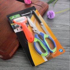 ขาย ซื้อ Ysb Cassa ชุด Set 3ชิ้น กรรไกร มีดหั่น มีดปอกผักและผลไม้ สแตนเลส คละสี รุ่น Ss420 03