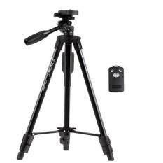 YUNTENG VCT-5208  ชุดขาตั้งกล้องวัสดุอลูมิเนียม สำหรับกล้อง DSLR และ โทรศัพท์สมาร์ทโฟน พร้อมรีโมทบลูทูธ และหัวต่อสำหรับจัดโทรศัพท์มือถือในตัว