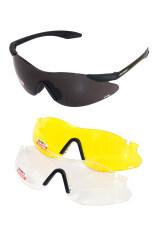 ราคา Zeen Perfect แว่นตากันแดด 3 เลนส์ รุ่น Zp14 Black