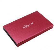 """ZS  HDD BOX 2.5"""" รุ่นLX25 hdd usb2.0 (สีเเดง)"""