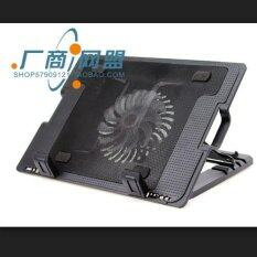 Zs Notebook Stand & Cooling Pad พัดลมระบายความร้อนโน๊ตบุ๊คปรับระดับได้ (สีดำ) รุ่นlxn25.