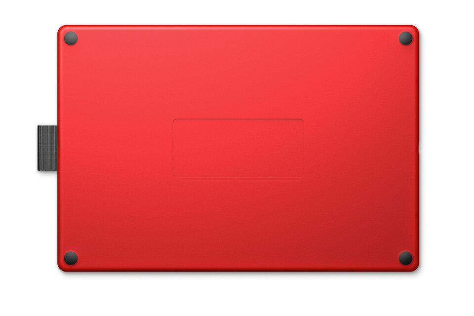 ONE By Wacom Medium รุ่น CTL-672 สีดำ-แดง เมาส์ปากกา รุ่นใหม่  รับประกันสินค้า 1ปี (CTL-672/K0-CX) - Black & Red