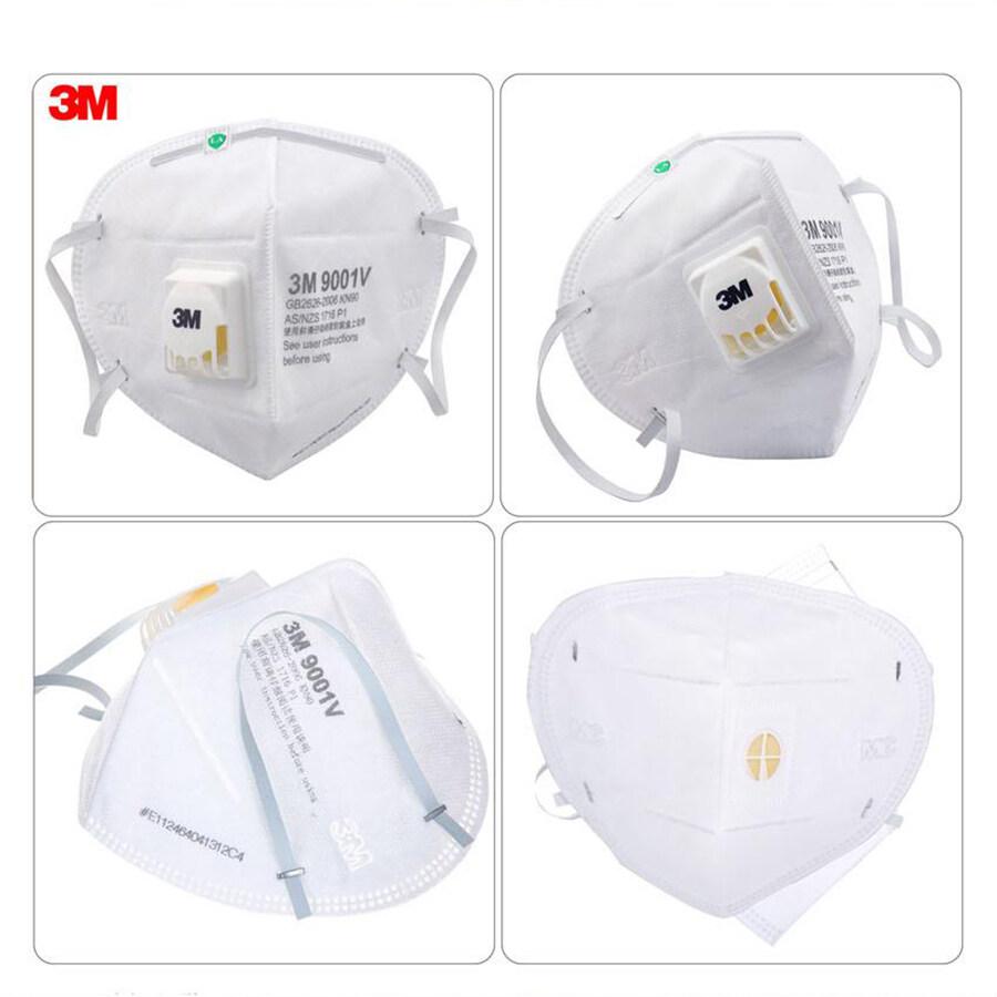 3M หน้ากาก หน้ากากป้องกันฝุ่น 3M 9001V กรองอนุภาค PM 2.5 รุ่นใหม่ 9001v หายใจสะดวก
