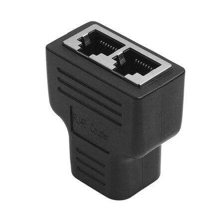1 To 2 Ways RJ45 LAN Ethernet Network Cable Female Splitter Connector Adapter