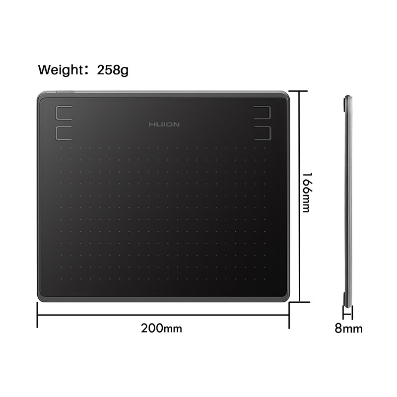 HUION HS64 Graphics Tablet 6.3 x 4 Inch Battery Free for Windows//macOS//Android