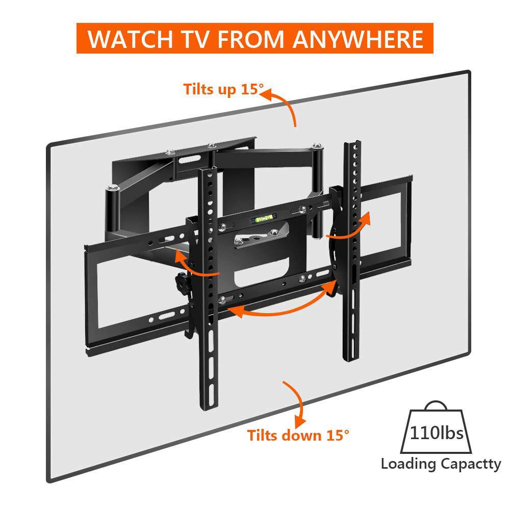 Full Motion TV Wall Mount Bracket Tilt Flat Screen 32 37 42 46 50 55 60 LED LCD