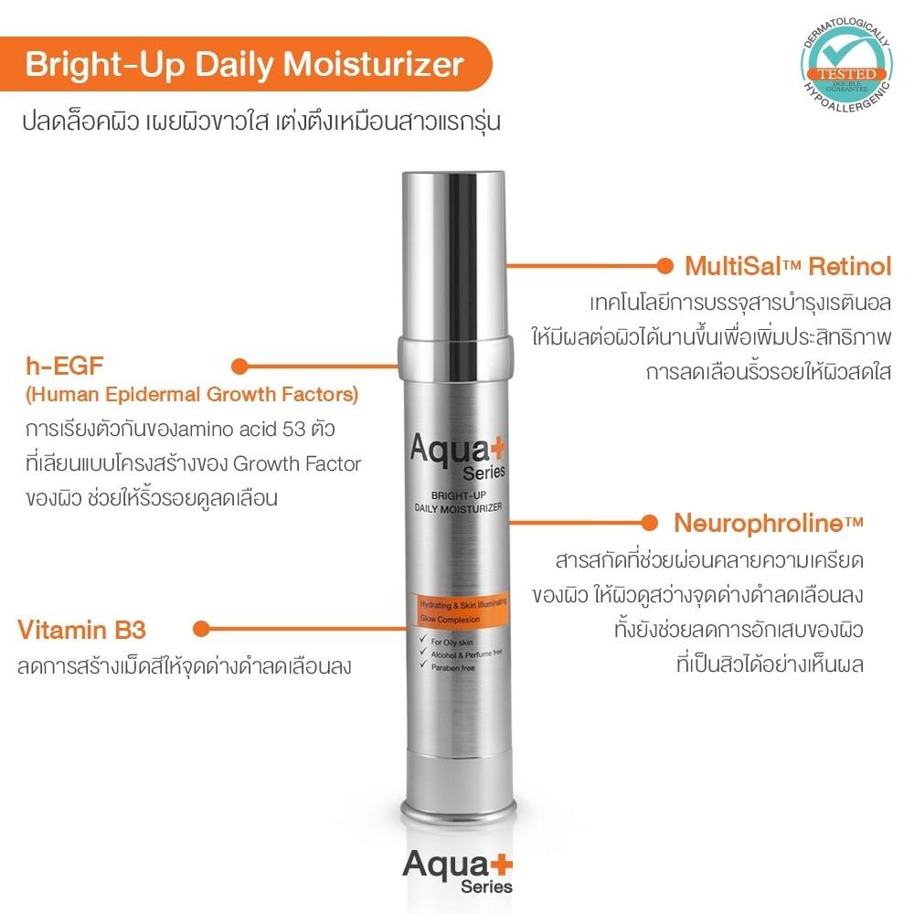 Aqua+ Series Bright-Up Daily Moisturizer 30ml.