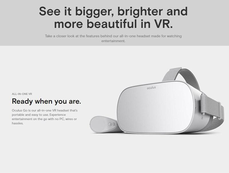 Wireless 64GB Oculus Go Standalone VR Virtual Reality Headset Bluetooth LCD